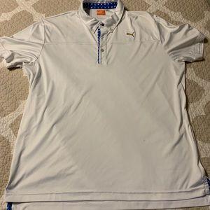 White puma golf polo